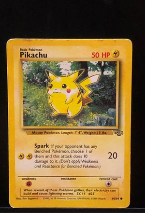 🔥 1995 Pokemon Pikachu Original Card 🔥 for Sale in Suffolk, VA