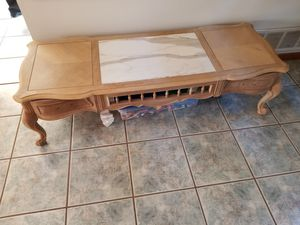 light wood & marble coffee table for Sale in Barnegat Township, NJ