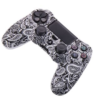 Water Transfer Printing Camouflage Silicone Cover Skin Case for Sony PS4/slim/Pro Dualshock 4 Controller x 1 (Flower) for Sale in Colton, CA