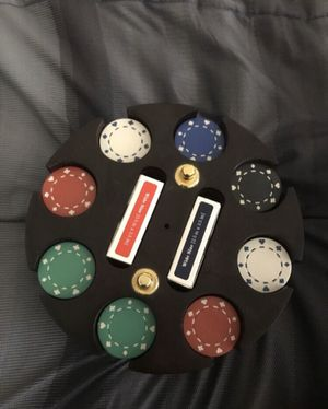 Poker set 200 chips and it spins for Sale in Fort Worth, TX