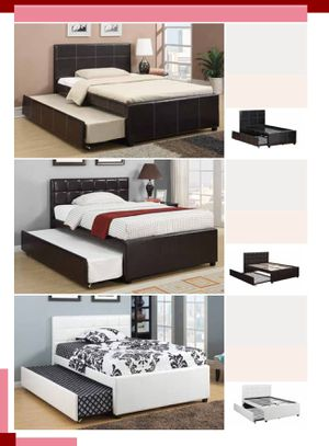 Brand new full twin trundle bed frame only for Sale in San Diego, CA