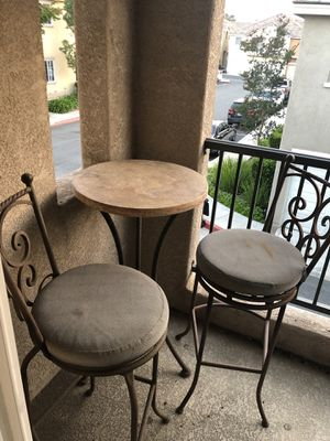 Wrought Iron Counter Height Patio Table and Chair Set / Patio Furniture for Sale in Chula Vista, CA