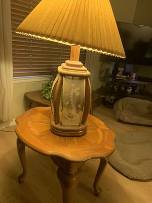 Table and lamp for Sale in Fresno, CA
