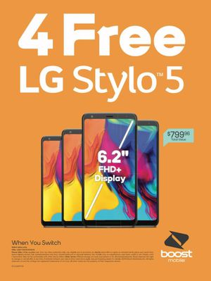 Stylo 5 Free When You Switch for Sale in Riverside, CA