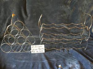 WINE RACKS - Silver for Sale in Melbourne, FL