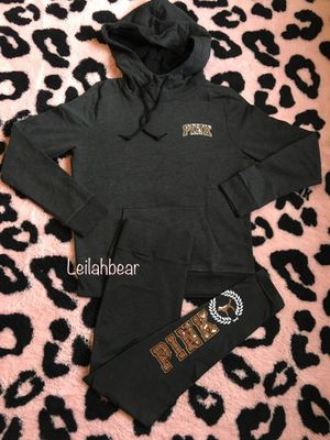 VS Pink 2 pc. Sherpa Bling Hoodie Pullover Legging Set Sz. M for Sale in Houston, TX