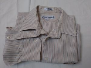 Burberrys of London Men Long Sleeve Striped Dress Shirt. Men Button Down shirt. Long Sleeve Shirt. Burberry Dress Shirt for Sale in Riverside, CA