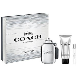 Set Coach Platinum New york 3/pc for men 3.4 edt spy for Sale in Colton, CA