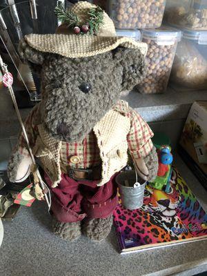 Fishing stuffed teddy bear for Sale in Phoenix, AZ