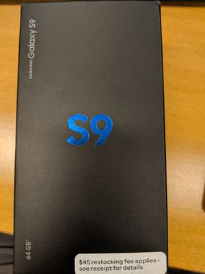 Samsung Galaxy S9: Like New : Factory Unlocked: 1 year old for Sale in Jersey City, NJ