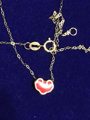 24K Lucky Heart + 18K Dainty Chain for Sale in Greenville, SC