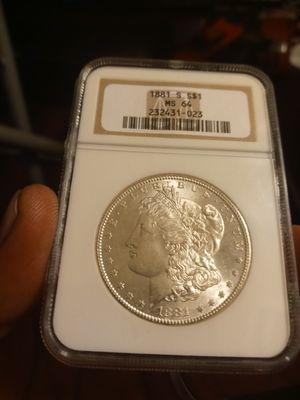1881s MS64 Morgan silver dollar for Sale in Baldwin Park, CA