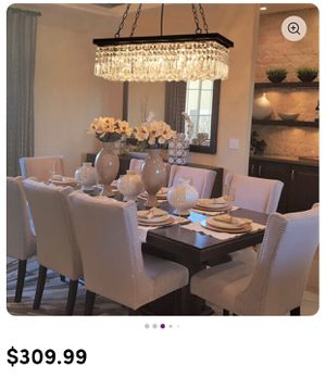 5 lights crystals chandelier new for Sale in Denver, CO