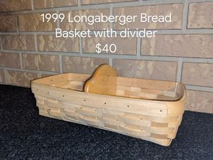 1999 Longaberger Bread Basket with divider for Sale in Orange City, FL