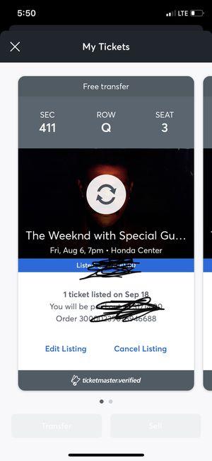 Weeknd tickets for Sale in Riverside, CA