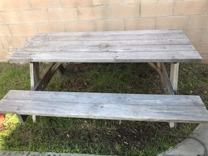 Wooden Picnic Table for Sale in Los Alamitos, CA