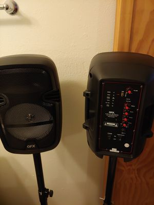 Speakers new in box Bluetooth and radio and mics for Sale in Klamath Falls, OR