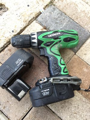 Hitachi compact drill with 2 batteries (NO CHARGER) for Sale in West Palm Beach, FL