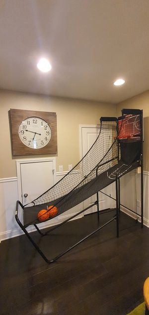 Two Harvard electronic basketball Hoops and One Air Hockey Table for Sale in Woodstock, GA