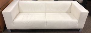 White Italian Leather Contemporary Couch for Sale in Edmonds, WA