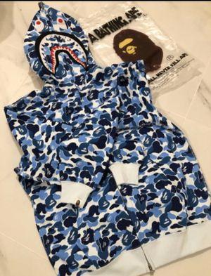 Bape Shark Hoodie (Blue) for Sale in Providence, RI