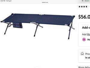 XL camping cot for adults - new for Sale in Menifee, CA