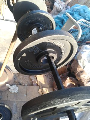 Olympic 10s and 5s lb weight plates: $1 per lb for Sale in Phoenix, AZ