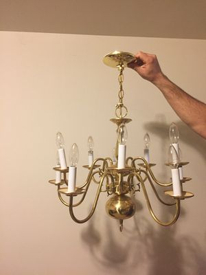 Gold Chandelier almost new for Sale in Colesville, MD