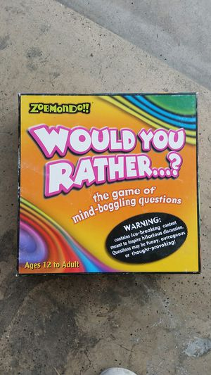 Would You Rather board game for Sale in Glendale, AZ
