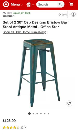 Antique metal bar stool for Sale in Pomona, CA