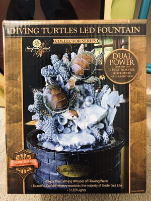 Diving Turtle LED Fountain for Sale in Saugus, MA