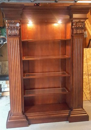 Solid wood bookcase - must go asap for Sale in Columbia, MD