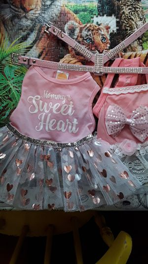Small harnice, 2 dog outfits for sale. for Sale in Lillington, NC