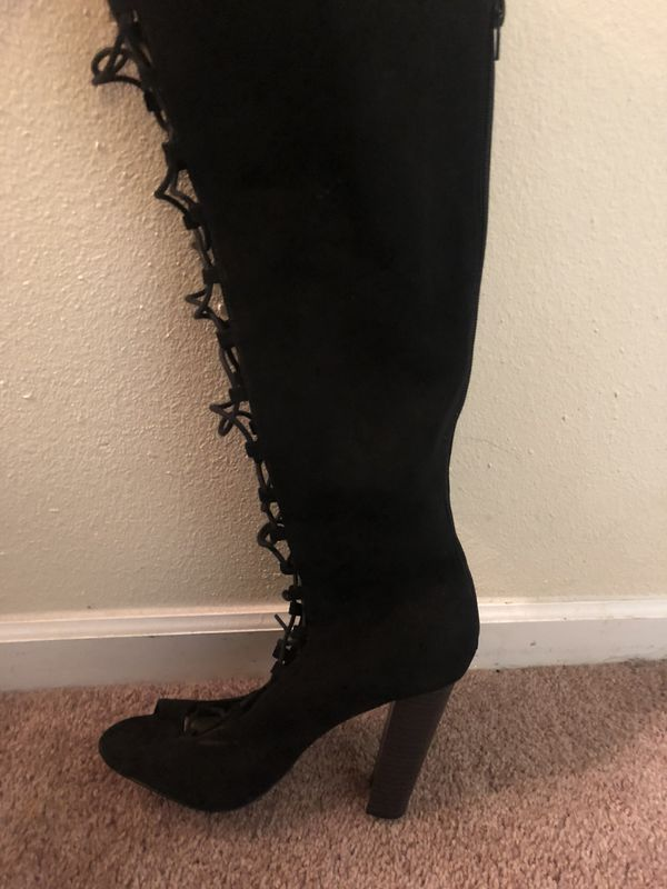 acbdab0ec515 Torrid peep toe thigh high boots 8W for Sale in Jacksonville