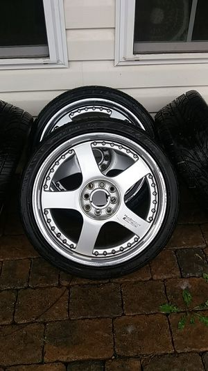 $400 this weekend! 17×7 Racing Hart C-5 Rims and Tires for Sale in Charles Town, WV