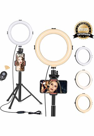 """8"""" Ring Light with Tripod Stand - Dimmable Selfie Ring Light LED Camera Ringlight with Tripod and Phone Holder for Live Stream/Makeup/YouTube Video, for Sale in Elkridge, MD"""