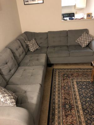 Bed Frame with Mattress/ Table with 4 chairs/ Full Couch for Sale in Newark, CA