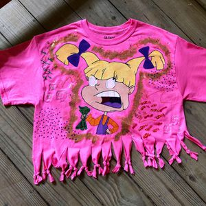 """HAND PAINTED ANGELICA """"I GET THE BAG"""" TEE for Sale in Washington, DC"""