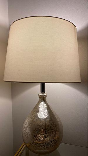 Modern Metallic Lamp with Lampshade for Sale in Seattle, WA