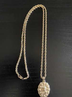14k Gold Rope Chain & Pendant for Sale in Sunrise Manor, NV