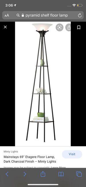 Black decorative floor lamp for Sale in Marietta, GA
