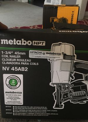 Metabo Nail Gun for Sale in Detroit, MI