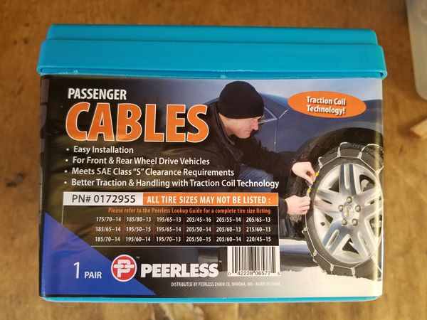 Tire chains or tire cables (small to mid-sized car)
