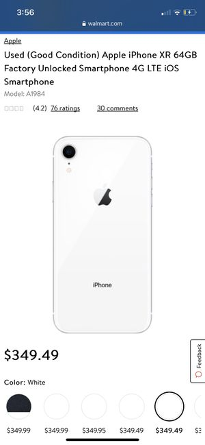iPhone XR white good condition for Sale in Newark, OH