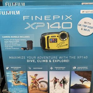 Brand New Fujifilm - FinePix XP140 16.4-Megapixel Waterproof Digital Camera - Yellow for Sale in Sylmar, CA