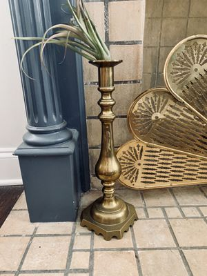 Large brass candle stick for Sale in Dallas, TX