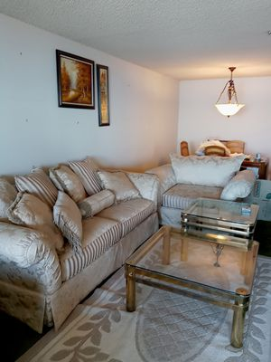 Levitz sofa and love seat. Off white excellent condition. for Sale in Alameda, CA