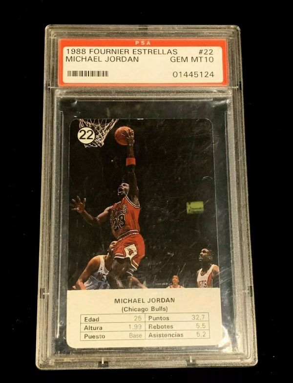 1988-89 Fournier Estrellas #22 Michael Jordan PSA 10 GEM MT Chicago Bulls Card