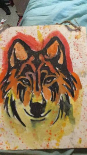 Flaming wolf for Sale in Scottdale, PA