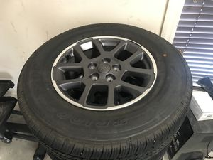 Jeep Gladiator wheels, tires, sensors 1500miles for Sale in Brusly, LA